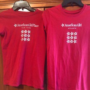 American Girl Tees Red Size XL